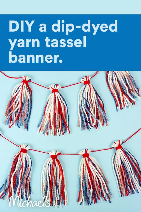 Want to add a bit of décor softness to your traditional celebrations? This is a great way to use up some yarn you may have, or even dye it to create a cool effect for this tassel garland.