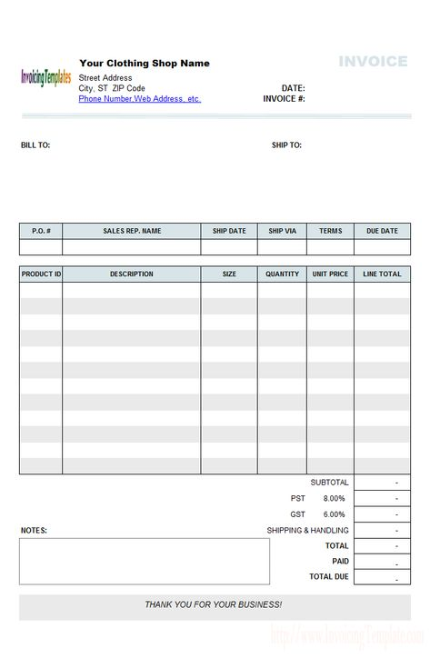 Laundry Invoice Template Hotel Forms  StryLenkoff Company