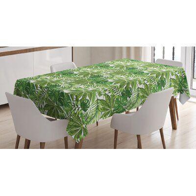 East Urban Home Palm Leaf Tablecloth Size 90 L X 60 W Rustic