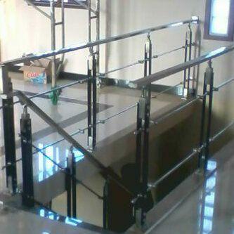 harga railing tangga kaca - desain rumah