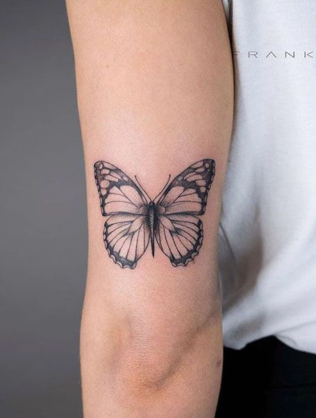 Incredibly Beautiful Collection Of 100 Butterfly Tattoos That You'd Want To Get Right Now - Many people go for striking designs and even inked skulls on their skin, whereas multiple tattoo co - Dainty Tattoos, Mini Tattoos, Leg Tattoos, Cool Tattoos, Woman Arm Tattoos, Arm Tattos, Body Art Tattoos, Tatoos, Rebellen Tattoo