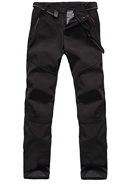 Jomlun Men S Outdoor Waterproof Skiing Climbing Hiking Soft Shell Warm Fleece Pants Review Fleece Pants Pants Outdoor Wear