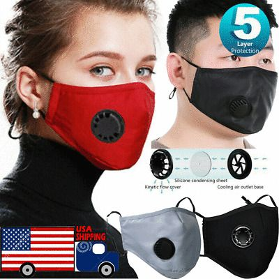 Cotton Face Mask Pm2 5 Mask Activated Carbon Mask Filter Washable