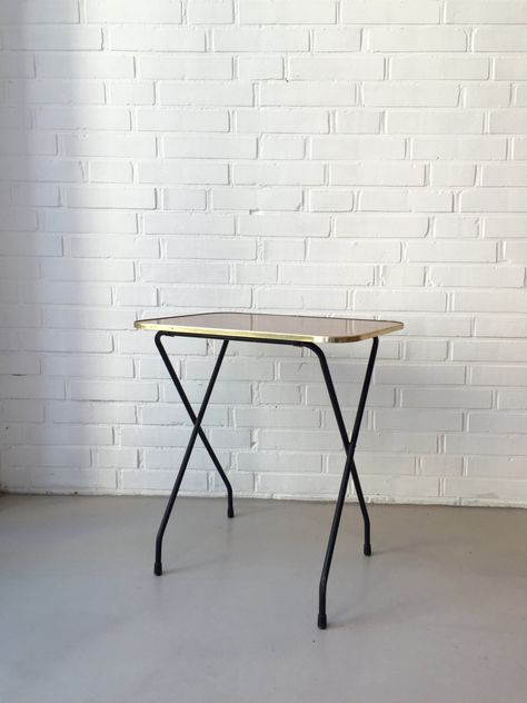 Vintage Kleiner Tisch Klapptisch Beistelltisch Mid Century