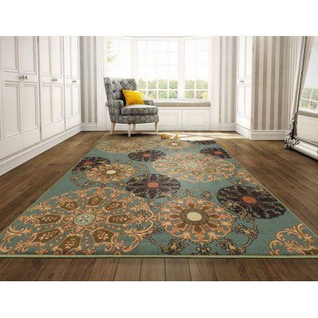 Ottomanson Ottohome Collection Contemporary Damask Design Area Rug