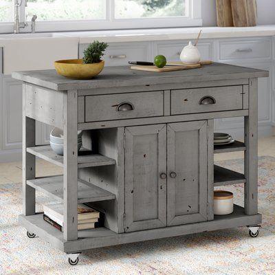One Allium Way Benedetto Kitchen Island With Door Finish Dark Gray New Kitchen Cabinets Kitchen Island Cart Kitchen Remodel