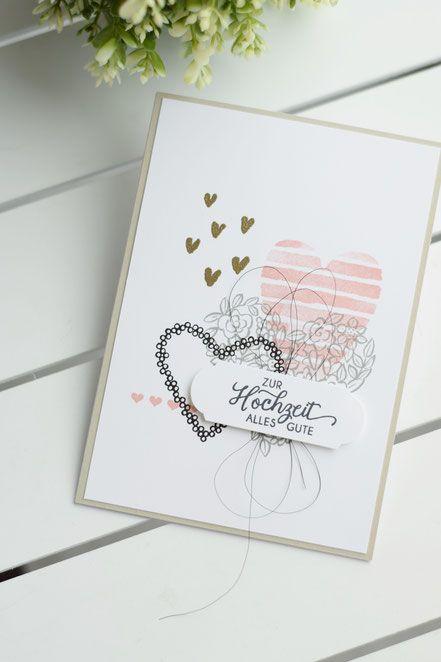 Geldgeschenk Karte Hochzeit Basteln.Hochzeitskarte Mit Heart Happiness Stampin Up Karte