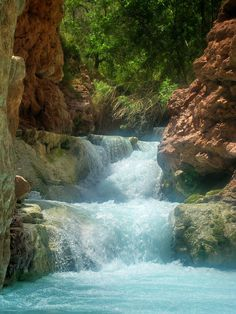 4. Beaver Falls  runs from Havasu Creek. It's at the bottom of the falls and not as tall and impressive as the others, but still quite picturesque.