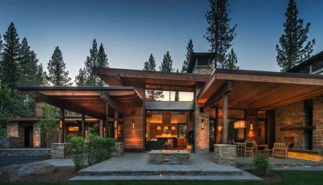 Warm Modernism Takes Center Stage In Martis Camp Retreat Modern Mountain Home House Designs Exterior Modern House Design