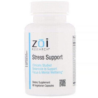 Zoi Research Stress Support 60 Vegetarian Capsules Stress Support Stress Eleuthero Root