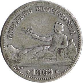1 Peseta 1869 Gobierno Provisional Mbc Valor De Monedas Antiguas Monedas De Plata Monedas