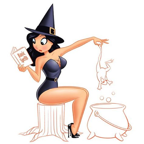 Witchcraft #pinup #witch #characterdesign