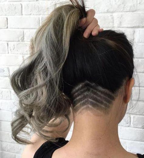 Frauen 2018 haare undercut lange Undercut Frisuren