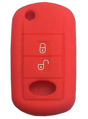 XUHANG Sillicone key fob Skin key Cover Remote Case Protector Shell for Jeep Grand Cherokee Chrysler 300 Dodge Durango Charger Challenger Journey smart remote 5 button red