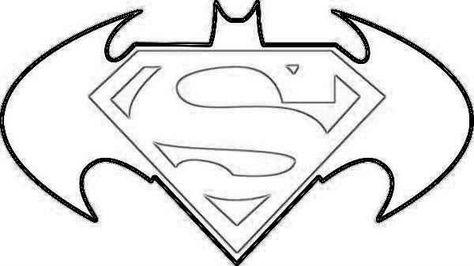 Printable Superman Symbol Coloring Pages Batman Vs