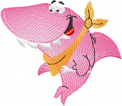 free embroidery   Happy Shark free embroidery design