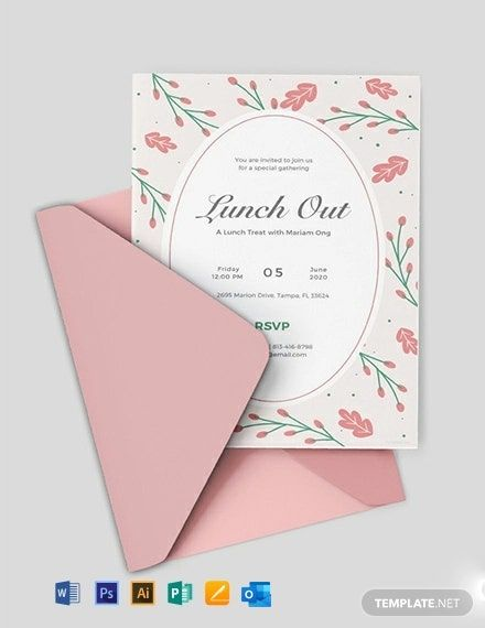 Lunch Invitation Template Free Jpg Illustrator Word Outlook Apple Pages Psd Publisher Template Net Free Printable Wedding Invitation Templates Free Invitation Templates Invitation Template