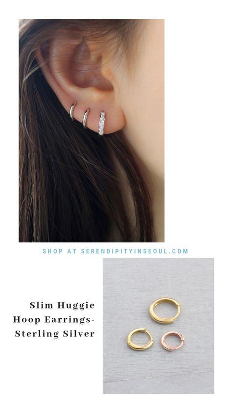 6d72de14acf0 Slim Huggie Hoop Earring- Sterling Silver - 2019