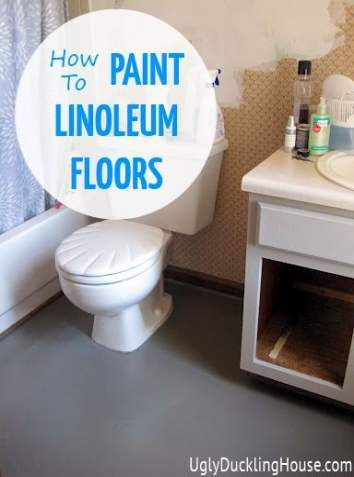 27 Trendy Bath Room Floor Vinyl Painting Linoleum Painting Bath Linoleum Flooring Paint Linoleum Painting Linoleum Floors