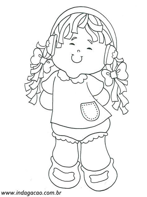 Desenho De Menina Ouvindo Musica Para Pintar Baixar Gratis