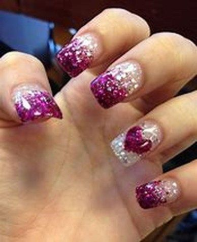 31 Cozy Glitter Acrylic Nail Powder Glitter Fade Nails Faded Nails Purple Glitter Nails