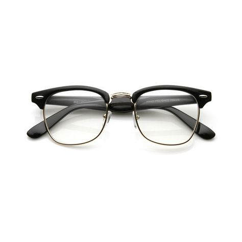 be216f89e Vintage Inspired Classic Wayfarer Clubmaster Clear Lens Glasses 2933  ($9.99) ❤ liked on Polyvore featuring accessories, eyewear, eyeglasses,  glasses, ...