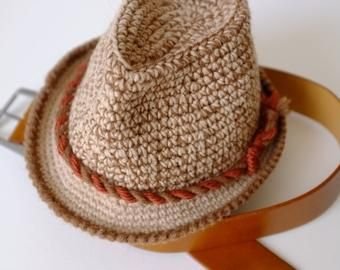 4b36128a6 Free Crochet Pattern Baby Fedora : fedora hat ? Etsy   Crochet hats ...