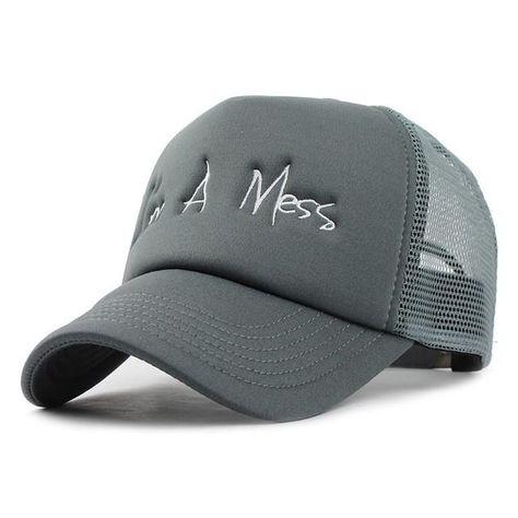 6dceeeecbfa  FLB  Baseball Cap with Mesh Brand Snapback Hat Trucker Cap embroidery Baseball  Caps Men Women Girls Boys Summer Mesh Cap