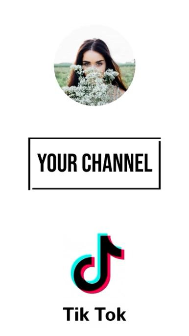 Channel Profile Tiktok Background Video In 2021 Typography Poster Clip Art Channel Art