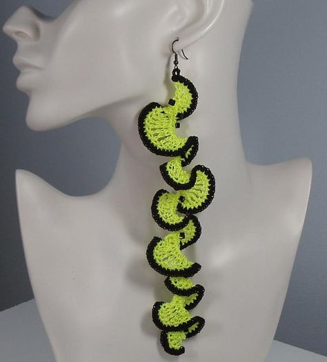 Chartreuse Coral Reef - hyperbolic crochet