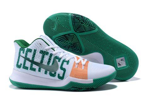 "Nike Kyrie 5 ""Celtics"" PE White Green Kyrie Irving"