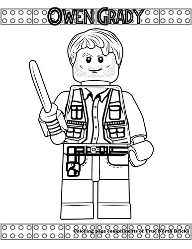 Jurassic World Dr Wu Giveaway True North Bricks Lego Coloring Pages Jurassic World Dinosaur Coloring Pages