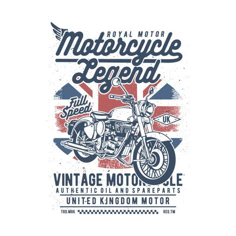 Check out this awesome 'Vintage+Motorcycle' design on @TeePublic!