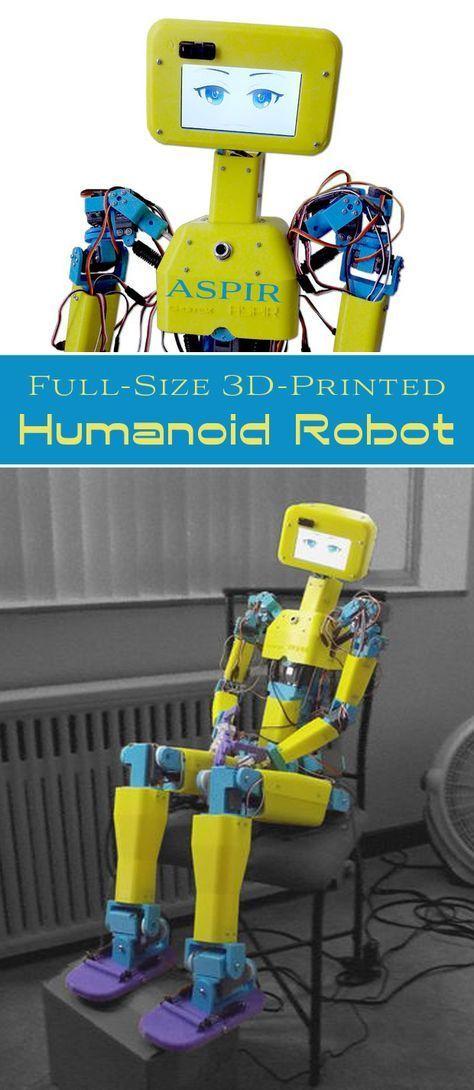 ASPIR: Full-Size 3D-Printed Humanoid Robot | Robotic