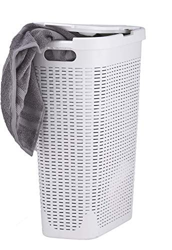 Superio Palm Luxe Narrow Laundry Hamper 1 15 Bushel White
