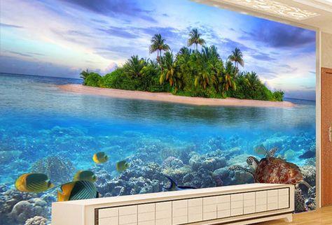 21 Wallpaper Pemandangan Pantai Di 2020 Pantai Lukisan Dinding
