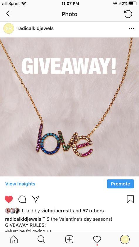 Instagram Jewelry Giveaway