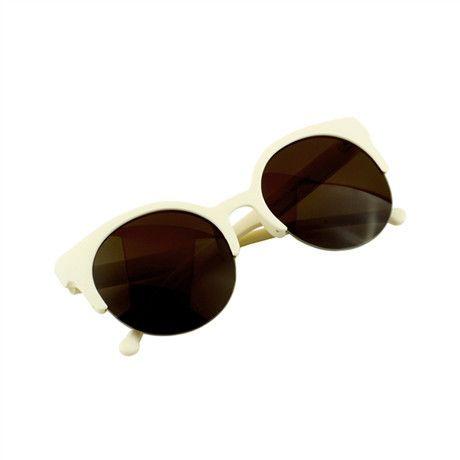 91a3b310e0 Women Fashion Retro Designer Sunglasses Cat Eye Semi-Rimless High Quality  Sunglasses