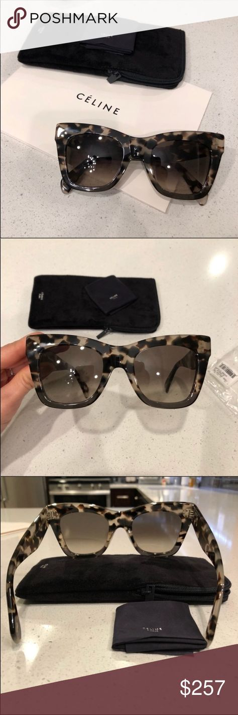 0224039d1a0 Celine sunglasses 🕶 Celine Catherine black gray Havana sunglasses New  condition. 100% authentic guaranteed