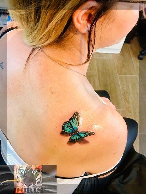 -   - #butterflytattoo #halfbutterflytattoo #smalltattooformen #wavetattoo