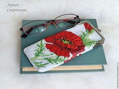 Схема вышивки очечник из бисера
