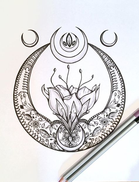 Adult Kids Coloring Page crescent Moon Original Lotus Flower Nature Art - Moyiki Sites Coloring Pages For Kids, Kids Coloring, Faith Tattoo On Wrist, Dragon Tattoo Back Piece, Moon Drawing, Japanese Dragon Tattoos, Egyptian Tattoo, Tattoo Script, Mandala Coloring Pages