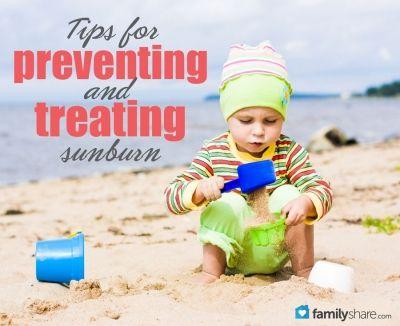 Tips for preventing and treating sunburn