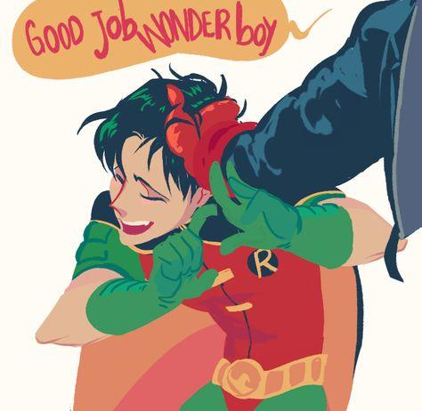 A happy Tim. Tim Drake. Robin.                              …