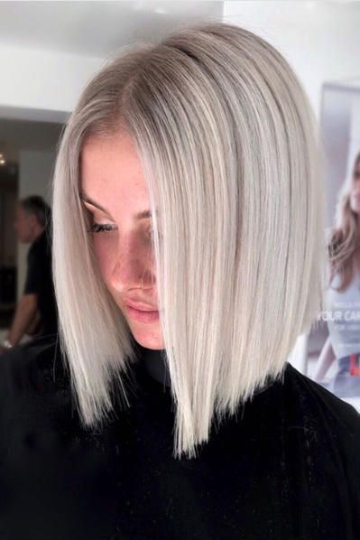 27 Short Hairstyles To Try In 2021 Platinum Blonde Hair Hair Styles Long Bob Hairstyles
