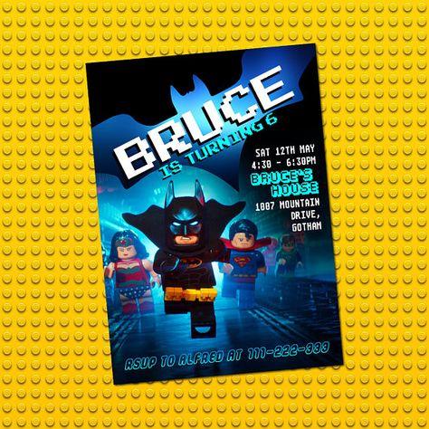 Lego Batman Invitation Lego Batman Birthday Invitation