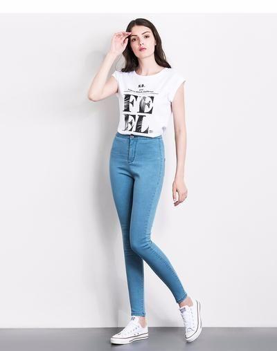 062a7ca1d8199 LEIJIJJEANS 2019 women push up jeans Plus Size women pants High Waist Full  Length Women Casual