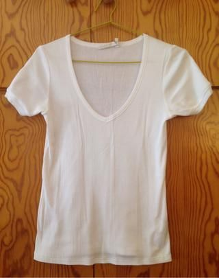 35a84065d Camiseta mujer blanca Zara de segunda mano por 6 € en Madrid en ...