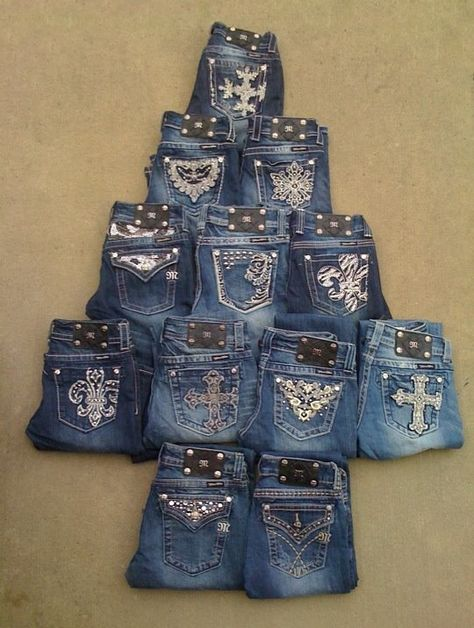Miss Me Jeans. A Miss Me Christmas tree, yes please.