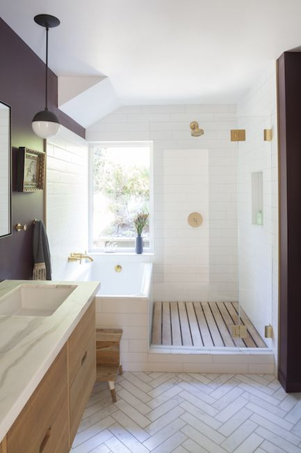 20 imposing modern bathroom designs from the middle of the century that you . - 20 imposing modern mid-century bathroom designs you'll fall in love with – # - Mid Century Modern Bathroom, Modern Bathroom Design, Bathroom Interior Design, Modern Interior Design, Bathroom Designs, Bathroom Ideas, Bathroom Organization, Bathroom Mirrors, Bathroom Fixtures